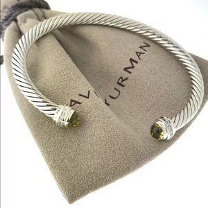 David Yurman 5mm Lemon Citrine diamonds bracelet
